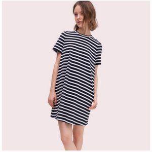 kate spade stripe zip-back knit dress small nwot